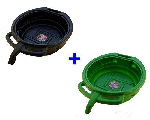 Ölauffangwanne 2 x 15 Liter Schwarz + Grün Ölauffangbehälter Ölwanne Kunststoff