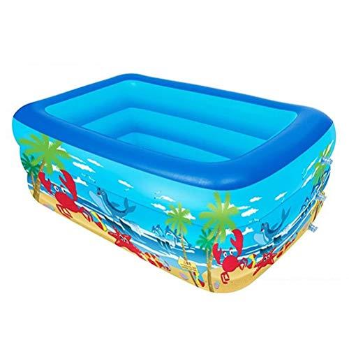 DFSDG Piscina de 1,2 m y 2,1 m inflable, para adultos, niños, bañera plegable en casa, disfruta del tiempo de spa (tamaño : 180 cm)