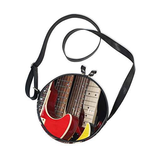 Ahomy - Bolso bandolera retro de guitarras eléctricas para niños