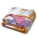 Donald Duck and Daisy Throw Blanket , Lightweight Plush Fleece Blanket , Cozy Throw Blanket, Soft Fluffy Couch Blanket Fit Sofa Bed, Warm Blanket for All Season 50'X40'