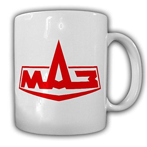 MAZ Firmen Logo zware vrachtwagen Rusland Rode leger trekkers Minski Awtomobilny Sawod Fusiet Tank Transporter Oldtimer Fabrikant Vrachtwagen - Mok Koffie Beker #15716