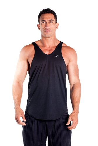Mens Dri-fit Stringer Tank Top por Pitbull en Color de su elección - Negro -