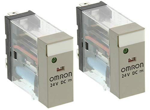 2x OMRON Relé industrial 24VDC 10A G2R-1-SN DC(S) Con LED verde