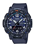 Casio Men's Pro Trek Quartz Sport Watch with Resin Strap, Blue, 22.2 (Model: PRT-B50-2CR)
