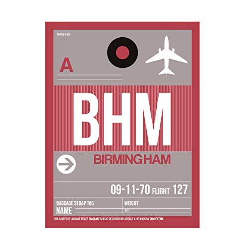Trademark Fine Art BHM Birmingham Luggage Tag II by NAXART, 24x32, Multiple