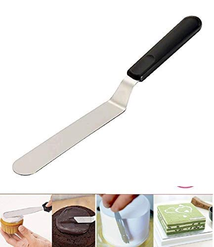Rozatech 1 PC Angular Cake Palette Knife | Steel Icing Spatula | Cake Knife | Cream Icing Frosting Spatula | Baking Kitchen Pastry Cake Decoration Tool