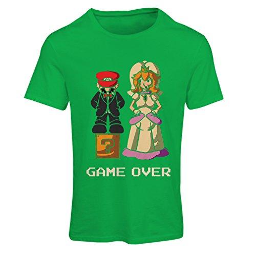 lepni.me Camiseta Mujer Fin del Juego, Despedida de Soltero o Boda, Regalo de Novio de Humor (Medium Verde Multicolor)