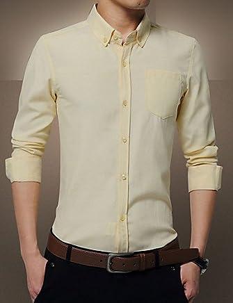 HANNMC Men'S Plus Size Formal Work Spring Fall Shirt,2Xl