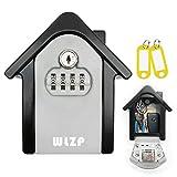 Caja de Cerradura con Llave, Código de reinicio de la tabla, incluye claves para evitar el olvido de la contraseña, adecuado para el hogar, la fábrica, obsequios: 2 X llaveros