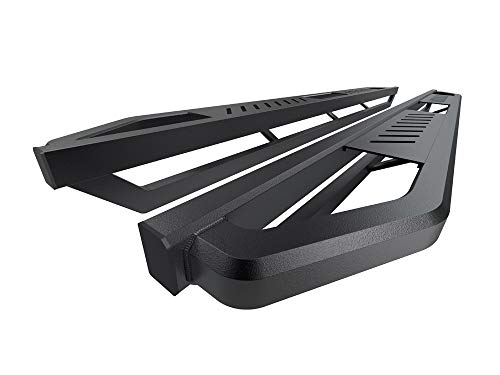 APS Off-Road 6.5in Armor Aluminum Running Boards Compatible with Chevy Silverado GMC Sierra 1500 2019-2022 Crew Cab & Silverado Sierra 2500 3500 2020-2022 (Exclude 19 1500 LD) (Nerf Bars Side Steps)