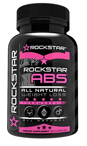 Rockstar Abs Fat Burner, Weight Loss for Women, 1 Thermogenic Diet Pill and Weight Loss Pills, 60 Veggie Caps