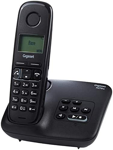 Gigaset A270A DUO - Basic Cordless Home Phone with Big Display, Answer Machine and Speakerphone - 2 Handsets, Black