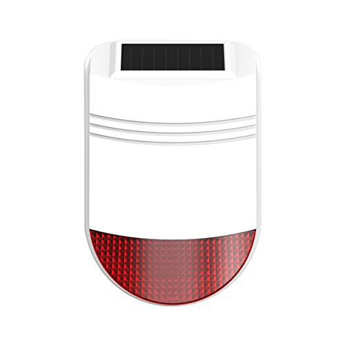 Safe2Home® Solar Funk Außensirene/Außenalarm für Funk Alarmanlage Safe2Home Serie SP110 - GSM Alarmsytem - mit Repeater Funktion