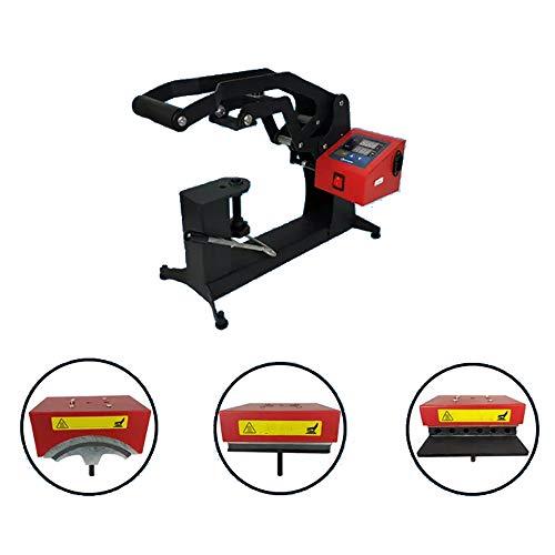 QWERTOUY 3 en 1 Combo Double Affichage Cap Heat Machine de Presse 15x15cm Logo Étiquette Cap Pen Machine d'impression Sublimation imprimante d'étiquettes