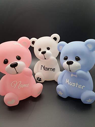 JP Handmade LED Bärchen, Teddy, mit Namen personalisiert, beleuchteter Bär
