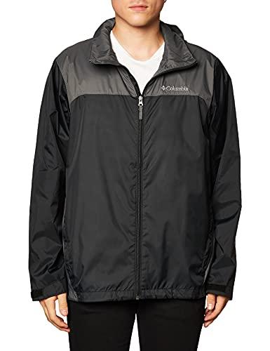 Columbia Men's Big Glennaker Lake Rain Jacket, Black/Grill, 4X