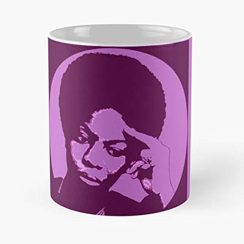 Africa Simone Music Play Piano African Nina Singer Best 11 oz Kaffeebecher - Nespresso Tassen Kaffee Motive