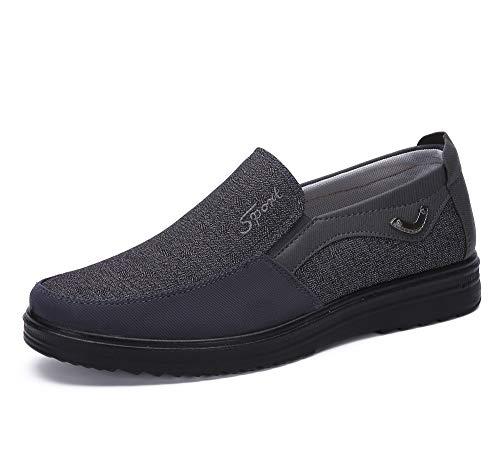 Uomo Mocassini Centesimo Casuale Guida Barca attività Commerciale Scarpe Eleganti Formale Pantofole Mocassino Passeggio Oxford (41 EU, Grigio 1)