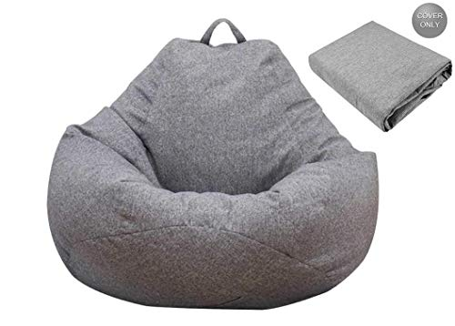 bigzzia NO Filler Bean Bag Chair Sofa Cover, NO Filler Bean Bag Chair Cover only (100x120cm) for for Adults and Kids,Recliner Gaming Bean Bag for Home Garden Living Room (L)