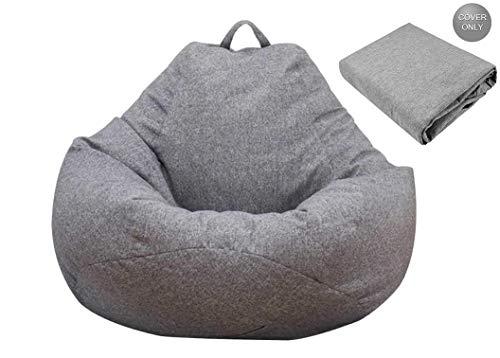 bigzzia Sitzsack / Sessel, Sofabezug, ohne Füllstoff, für Erwachsene und Kinder, Sitzsack für Zuhause, Garten, Wohnzimmer (L)