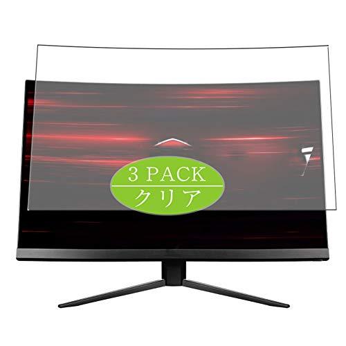 """VacFun 3 Pezzi Trasparente Pellicola Protettiva Compatibile con MSI Optix MAG241CVJP / MAG241CR / MAG241C / MAG241 23.6"""" Display Monitor, Screen Protector(Non Vetro Temperato) New Version"""
