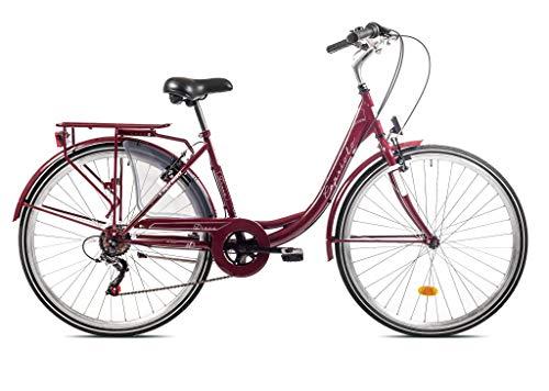 Roller Bayern Diana City Bike - Bicicleta de ciudad (ruedas de 28 pulgadas, 6 marchas, fabricado en la UE), color violeta