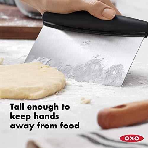 OXO Stainless Steel Good Grips Multi-Purpose Scraper & Chopper, 1 Count