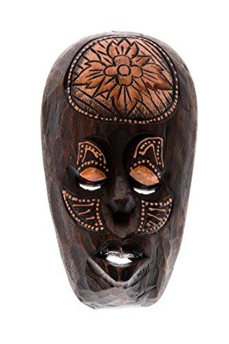 20cm Madera Maske Mascara Careta caratula Esculture Figura Fair Trade decoracion HM2000015