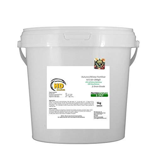 HD CHEMICALS Engrais pour Herbe Automne/Hiver à libération Lente 6-5-10 NutriLong V90 Engrais sans Engrais