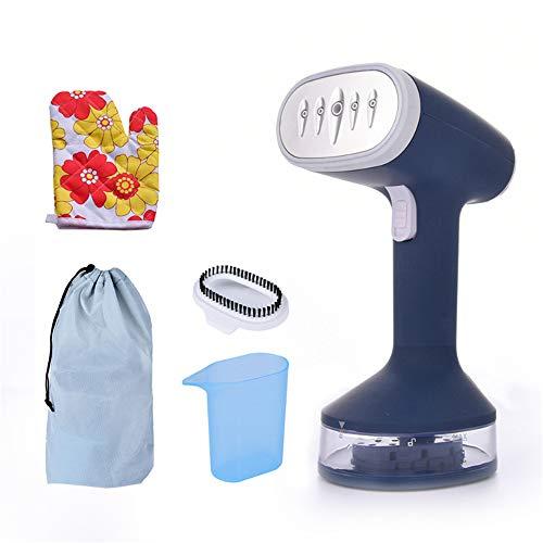 plancha vertical vapor,Vaporizador de ropa de mano, mini cepillo de vapor portátil vaporizador de prendas de vestir-azul