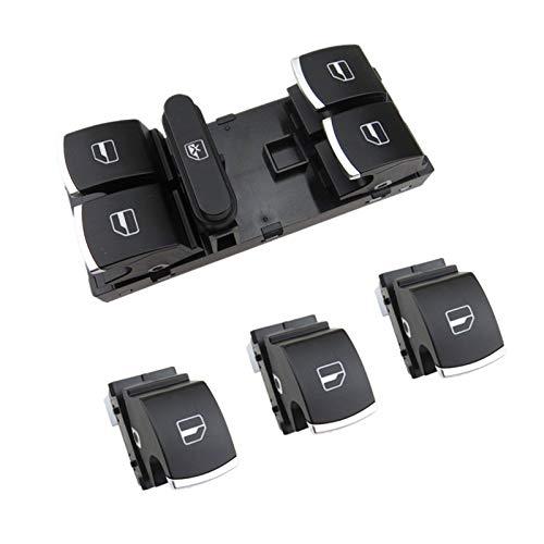 Botón de control del interruptor de la ventana de la ventana del interior del automóvil para Passat B6 3C CC Golf 5 MK5 6 MK6 PLUS TIGUAN RABBIT 5ND 959 855 5ND 959 857 Interruptor De La Ventana