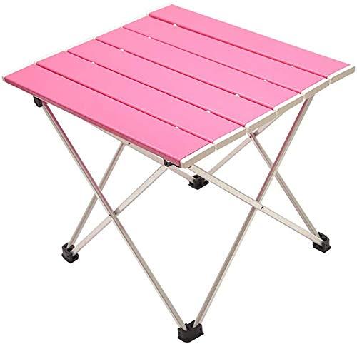 XMY Faltbare Picknicktisch, leicht und super tragbar, EIN Garten-Party und Picknick, montiert Aluminiumtisch (pink) mit Speichern bagFolding