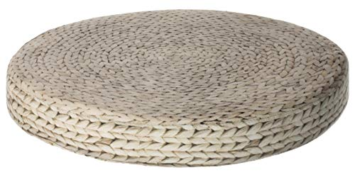 BRAND sseller en Flechtwaren Diseño de redondo silla Cojín de asiento acolchado de asiento con mango suave tamaño: aprox. Diámetro 38cm x 5cm, diseño 3, individual