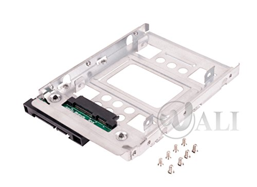 WALI 2T3 SSD to 3.5 inch Sata Hard Disk Drive HDD Adapter Caddy Tray Cage Hot Swap Plug Converter Bracket Compatible with All The 3.5 inch SAS SATA Drive Caddie Trays for HP Dell IBM Lenovo