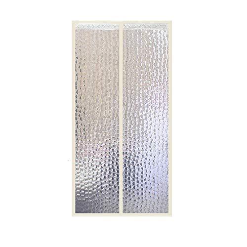 Wärmeschutzvorhang Magnet Thermo Türvorhang Fliegengitter Panel-Isolierung Thermovorhang Wasserdicht Winddicht Klimaanlage Fliegenvorhang Für Balkontür Wohnzimmer Von PUDDINGHH®,100 * 210CM