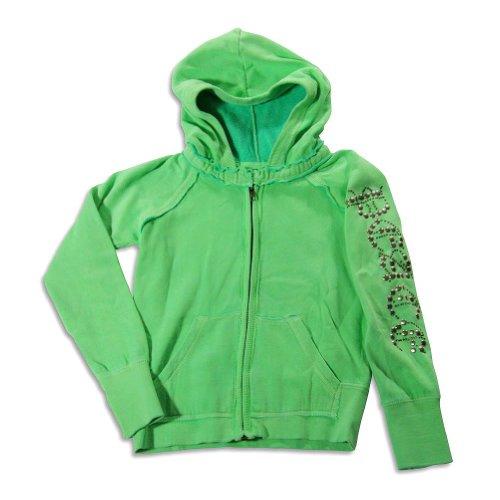 Vintage Havana - Big Girls' Long Sleeve Peace Sweatshirt Jacket, Lime 23186-12