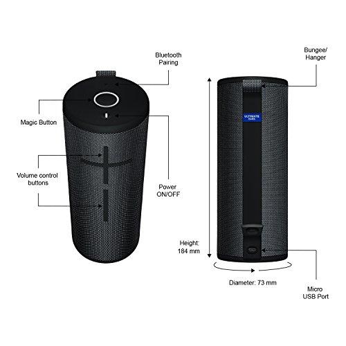 Ultimate Ears Boom 3 Altavoz Portátil Inalámbrico Bluetooth, Graves Profundos, Impermeable, Flotante, Conexión Múltiple, Batería de 15 h, color Negro