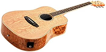 Idyllwild by Monoprice Quilted Ash Acoustic Guitar