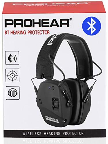 PROHEAR 030 Electronischer Gehörschutz für Jagd Schißen mit Bluetooth, Lärmminderung Klangverstärkung Ohrenschützer mit Zweikanalsteuerung, SNR27dB