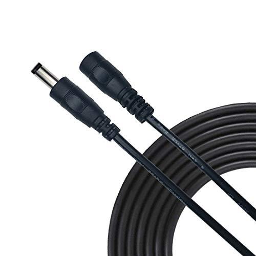 Liwinting 1m/3.28Feet DC Verlängerungskabel 5.5 mm x 2.5 mm DC Anschlusskabel DC/Gleichstrom Verbinderkabel DC Verteiler Männlich zu Weiblich Verbinder für Netzteil, CCTV-Kamera - Schwarz