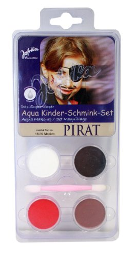 Schminkset Pirat Piratenschminke Schminke Set Piraten Freibeuter MakeUp Make Up für Kinder Aquaschminke Aqua Pirate Seebär