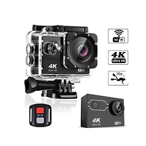 WSJ Onderwater-sportcamera, waterdichte wifi-camera, 173-graden kijkhoek, 2 inch LCD-scherm, 2,4 G afstandsbediening, 20 accessoirekits