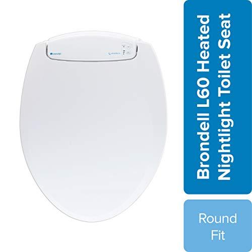 Brondell L60-RW LumaWarm Heated Nightlight Round Toilet Seat, White