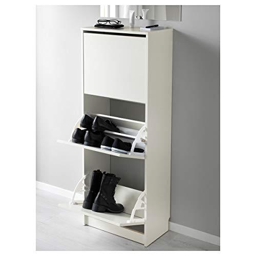 IKEA Bissa zapatero con 3 compartimentos 49x28x135 cm, color blanco