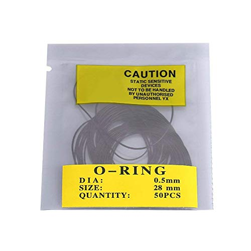 O-Ring Rubber - O-Ring Gasket Kit - 12 mm-30 mm - Universal Repair for Watchmaking 0.5mm