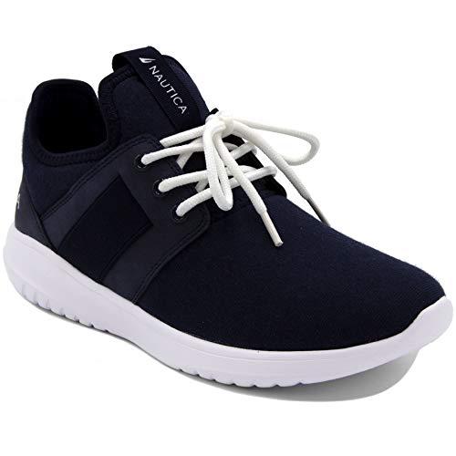 Nautica Women Fashion Sneaker Lace-Up Jogger Running Shoe-Primage Heather-Navy-7.5
