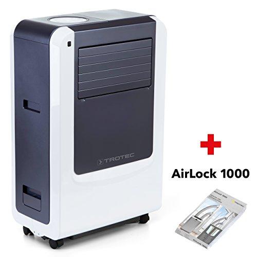 TROTEC Lokales mobiles Klimagerät Klimaanalge PAC 3500 X mit 3,4 kW / 12000 Btu Inkl. Tür- und Fensterabdichtung AirLock 1000