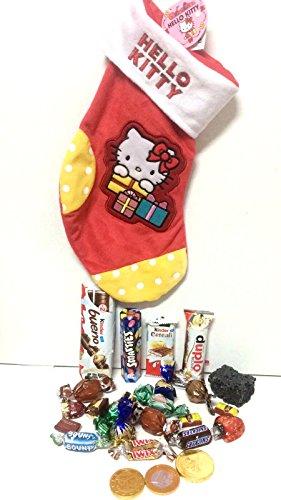Calza della Befana Hello Kitty riempita con 390 g di Dolci Sorprese