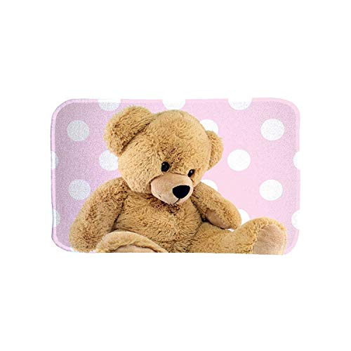 HOK- Tapis Ultra Doux Teddy Rose - Polyester - 70 X 95 cm - Tapis Chambre Enfant - Made in Europe
