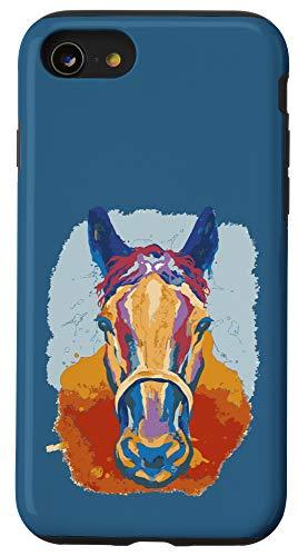 iPhone SE (2020) / 7 / 8 Horse Watercolor Blue Case